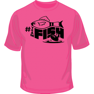 Pink #teamFish Shirt