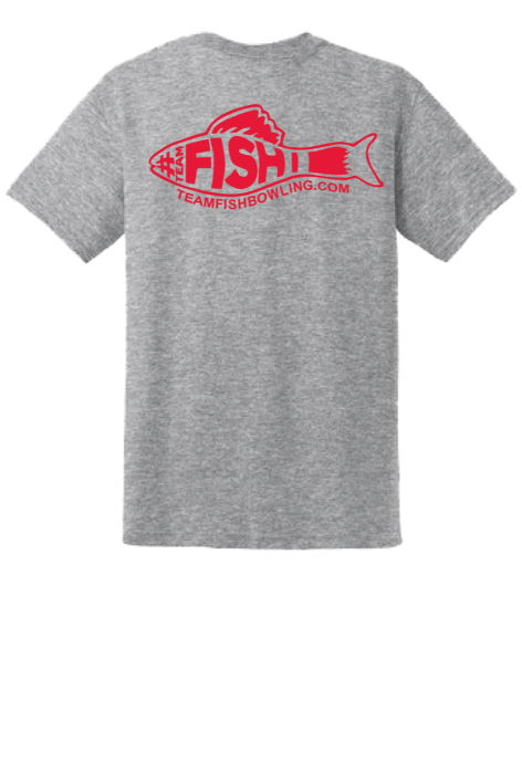 TeamFish Bowling T-Shirt Bobber Logo Back