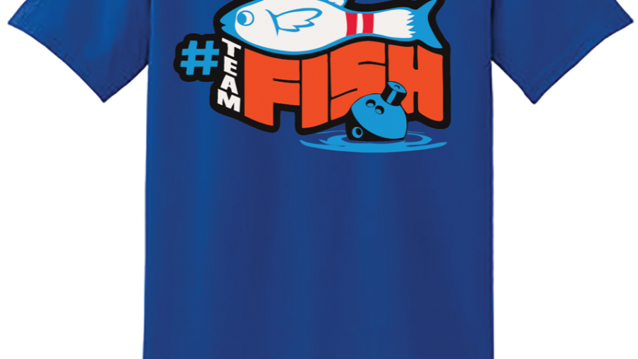 TeamFish Bowling T-Shirt Grouper Logo Back