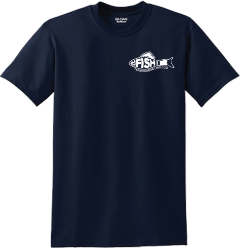 TeamFish Bowling T-Shirt Navy Logo Front