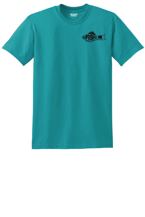 TeamFish Bowling T-Shirt Teal Hook It Front Logo